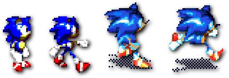 Sonic Blast - Master System (Left), Sonic 3D - MegaDrive (Right)